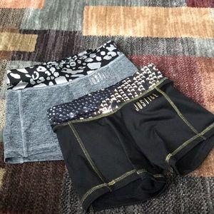Justice dance shorts bundle sz8